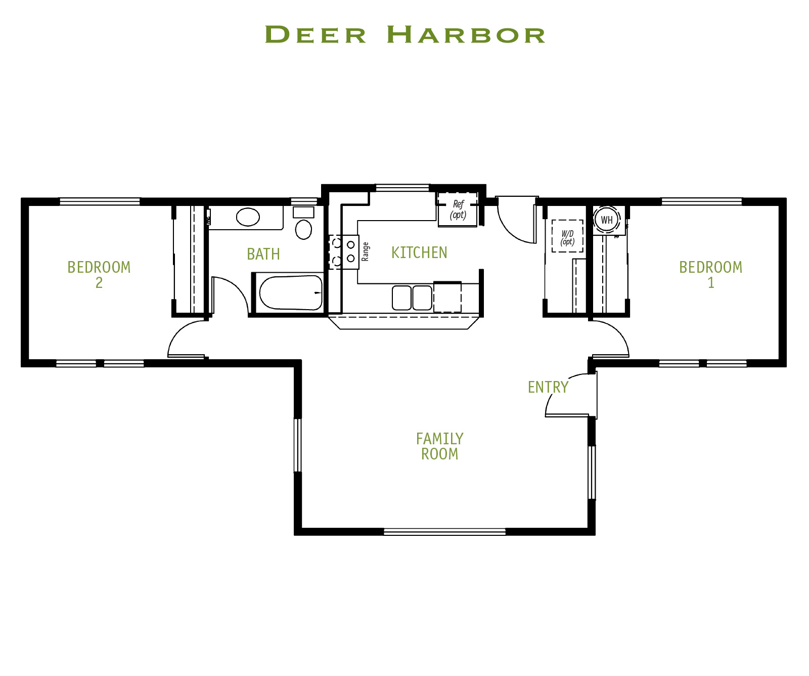 Timberland Homes Deer Harbor Floorplan