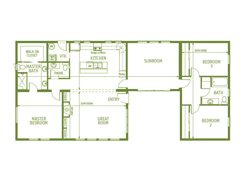 Timberland Homes Alki Floorplan
