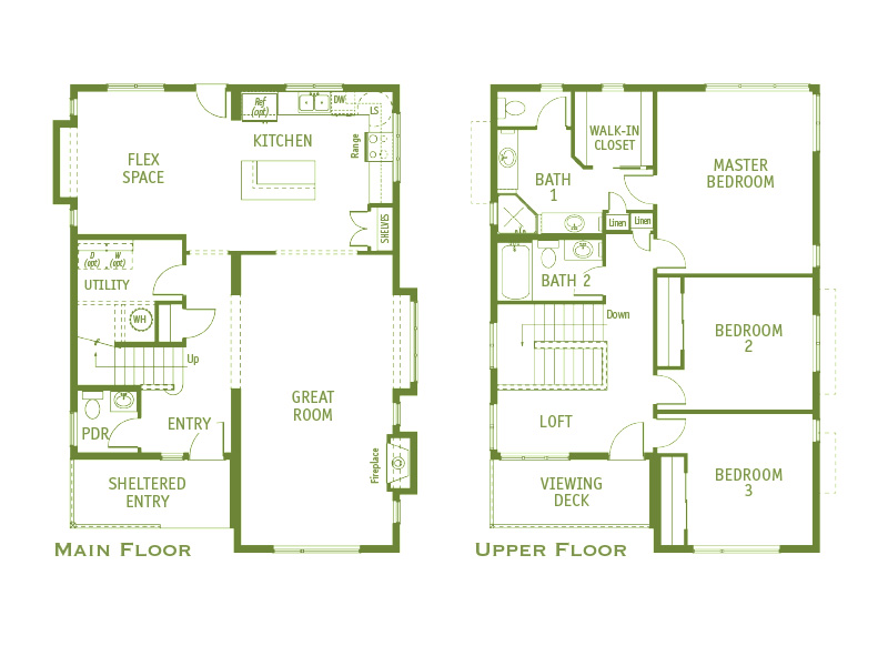 Timberland Homes Winslow 1 Floorplan