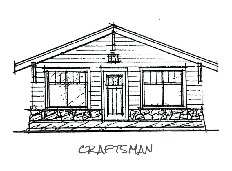 Timberland Homes Craftsman Elevation