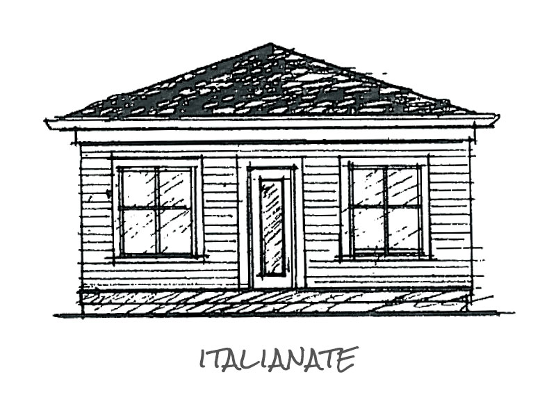 Timberland Homes Italianate Elevation