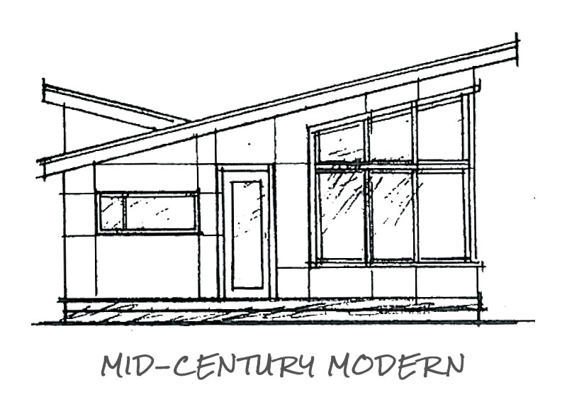 Timberland Homes Mid-Century Elevation