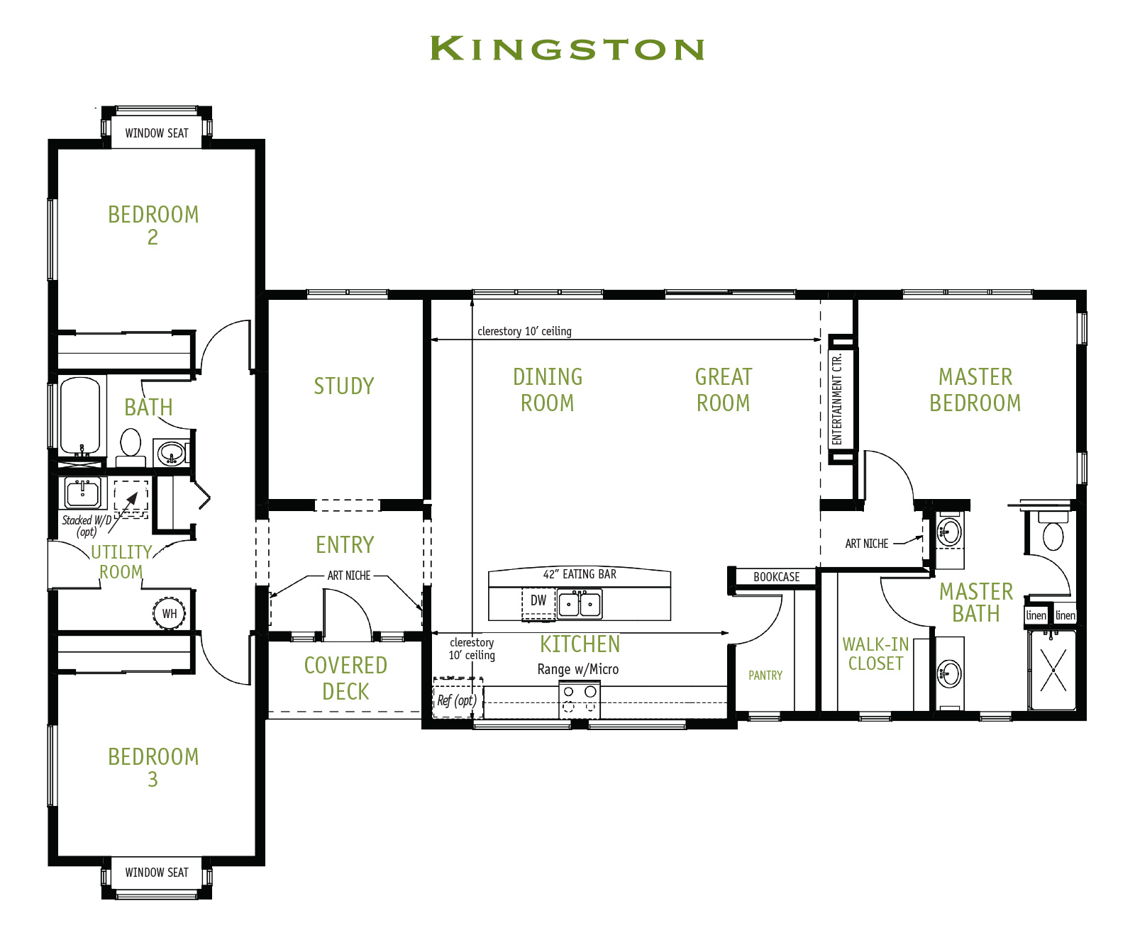 Timberland Homes Kingston Floorplan