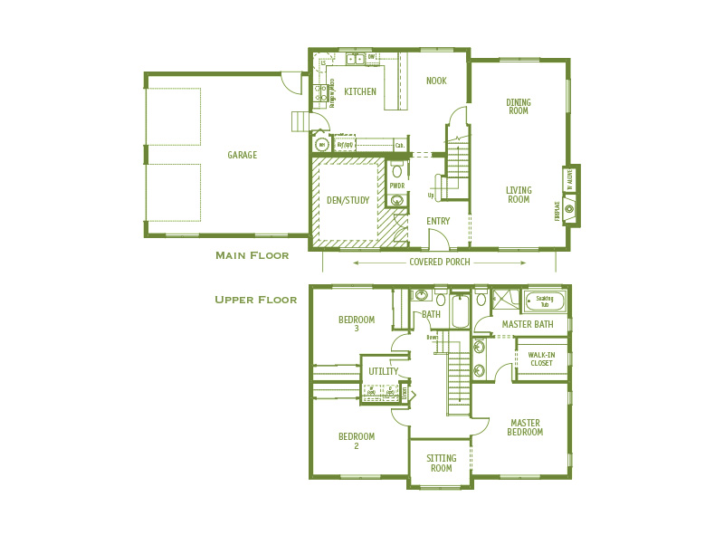 Timberland Homes Capitol Hill Floorplan