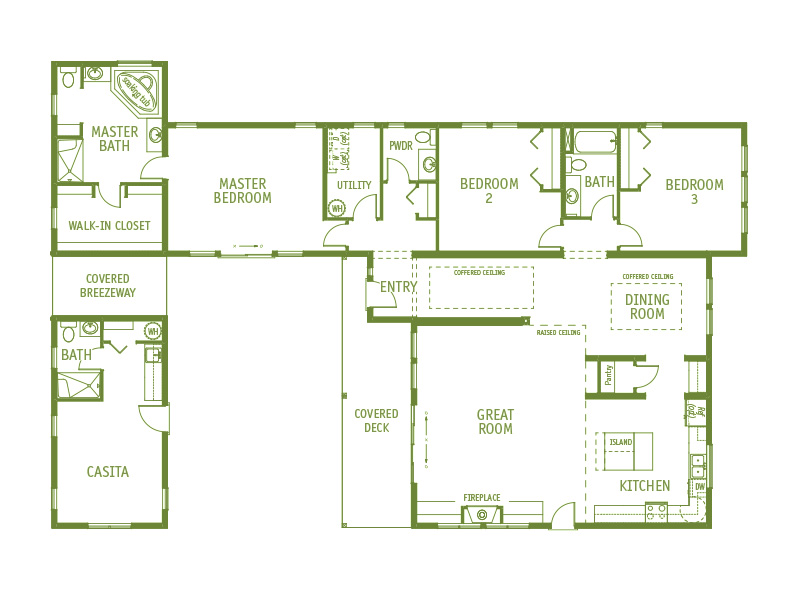 Timberland Homes Forest Park Floorplan