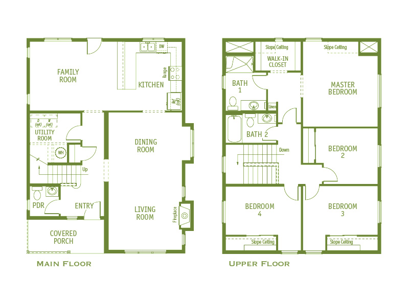 Timberland Homes Greenwood 1  Floorplan