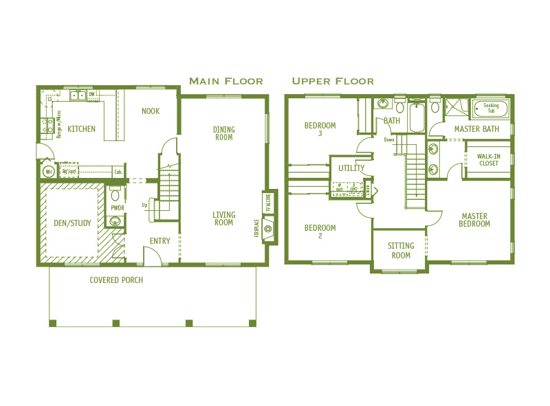 Timberland Homes Queen Anne Floorplan