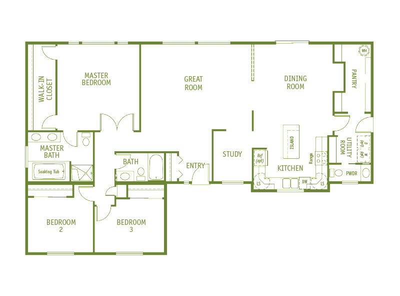 Timberland Homes Summerview Floorplan