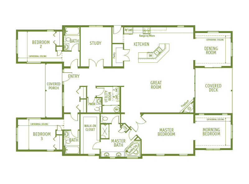 Timberland Homes Summit Floorplan
