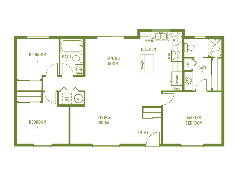 Timberland Homes Columbia Floorplan