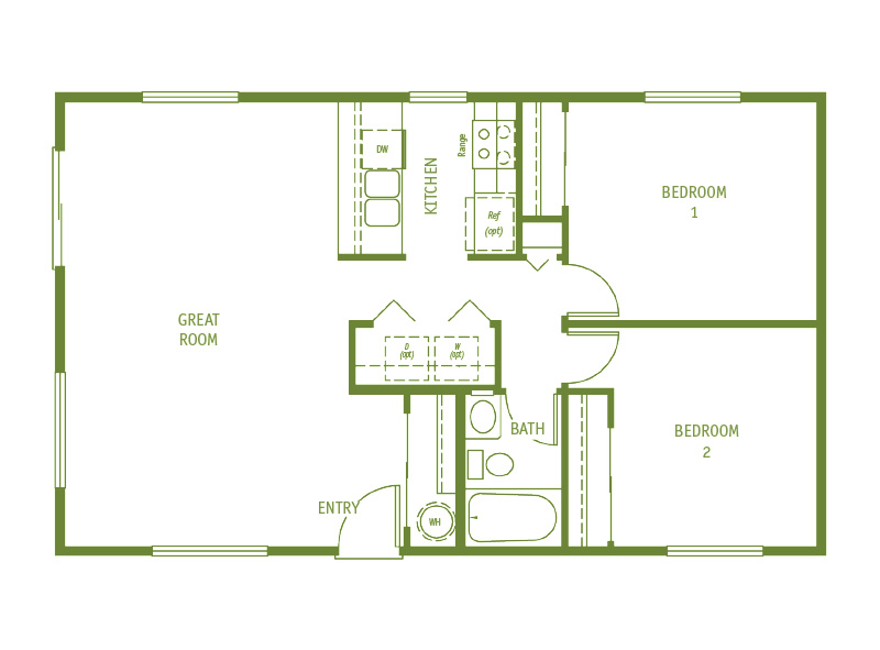 Timberland Homes Eagles Nest Floorplan