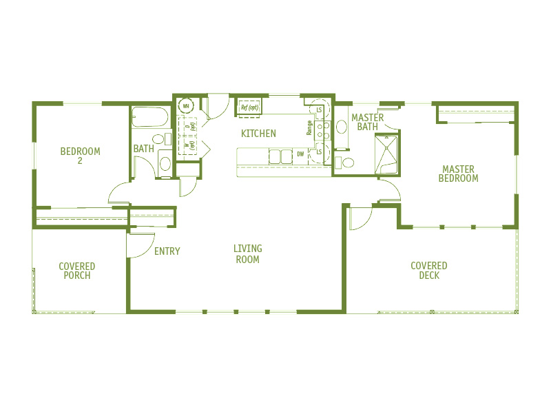 Timberland Homes Harborside Floorplan