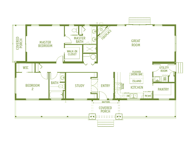 Timberland Homes Riverbend Floorplan