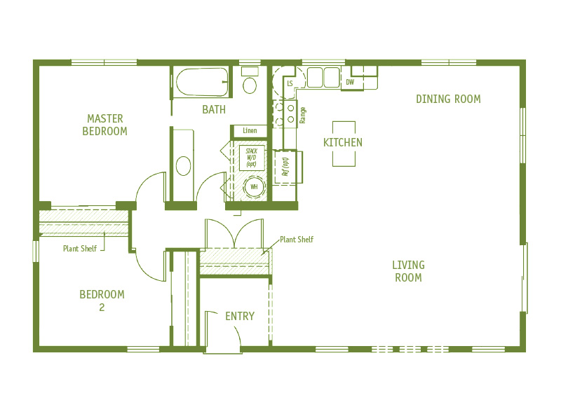 Timberland Homes Sandpine 1 Floorplan
