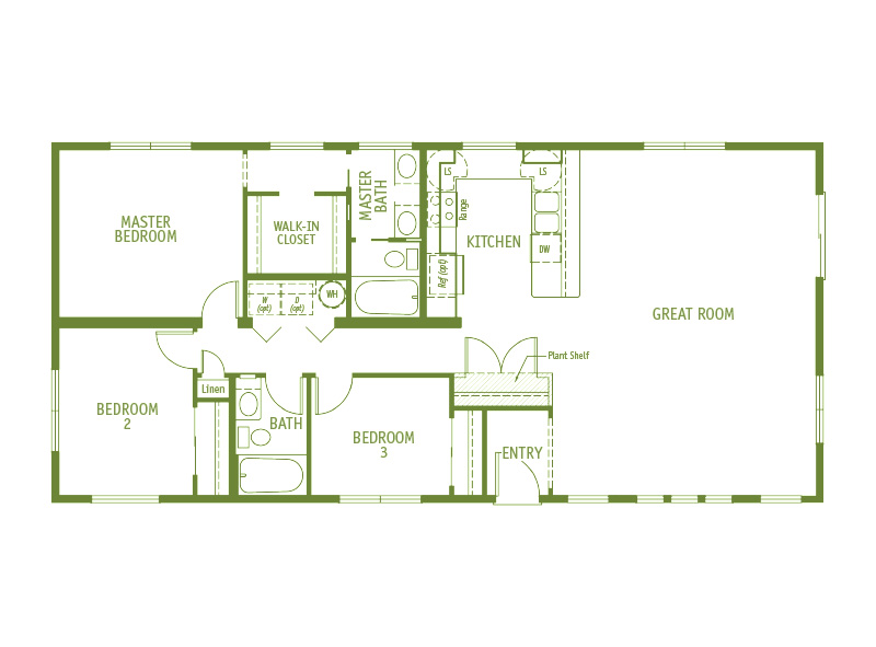 Timberland Homes Sandpine 2 Floorplan