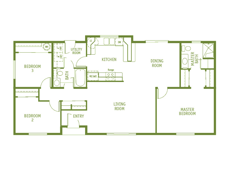 Timberland Homes Seafarer Floorplan
