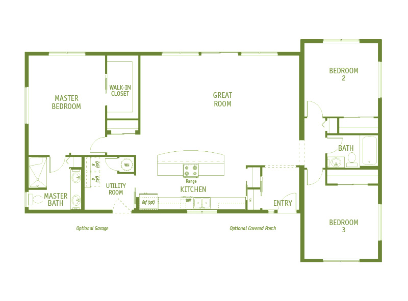 Timberland Homes Vashon 2 Floorplan