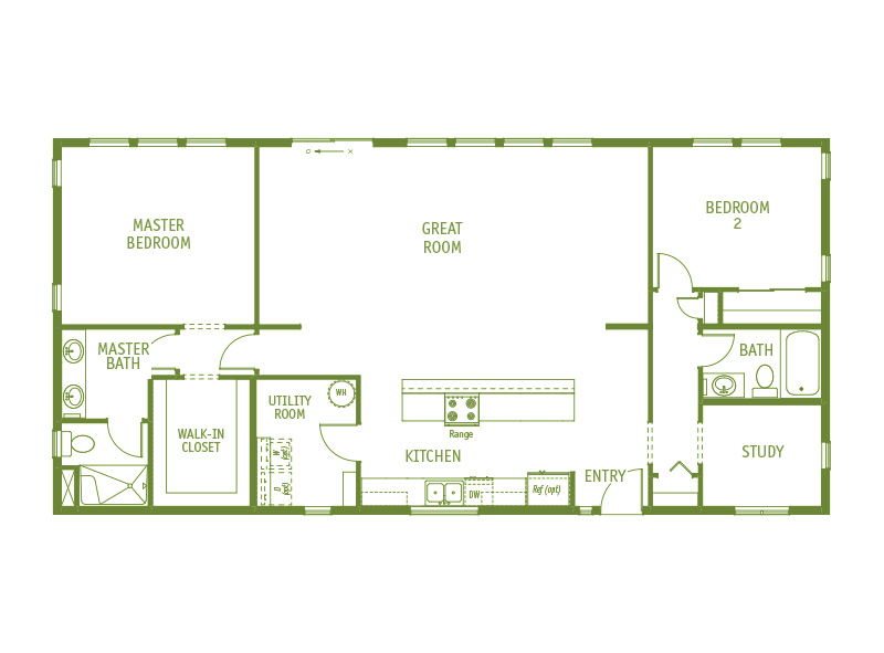 Timberland Homes Vashon Floorplan